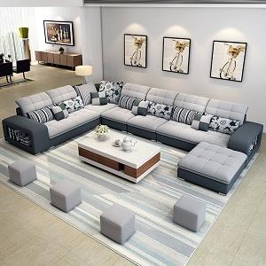 Ấn tượng phòng khách đẹp với sự kết hợp sofa và bàn trà