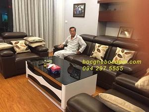Bọc ghế da chị Ngọc Anh- Làng việt kiều Mỗ Lao Hà Đông