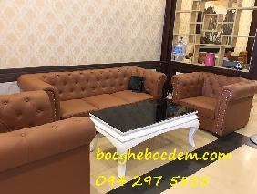 Bọc ghế sofa cho phòng khách nhà chị Thảo quận Ba Đình