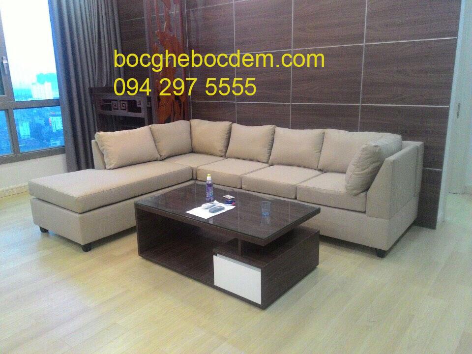 Bọc ghế sofa nỉ chi huyền  chung cư CT4 Huyndai Hà Đông