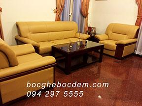 Bọc ghế sofa da Đại sứ quán - 8 Lê hồng phong