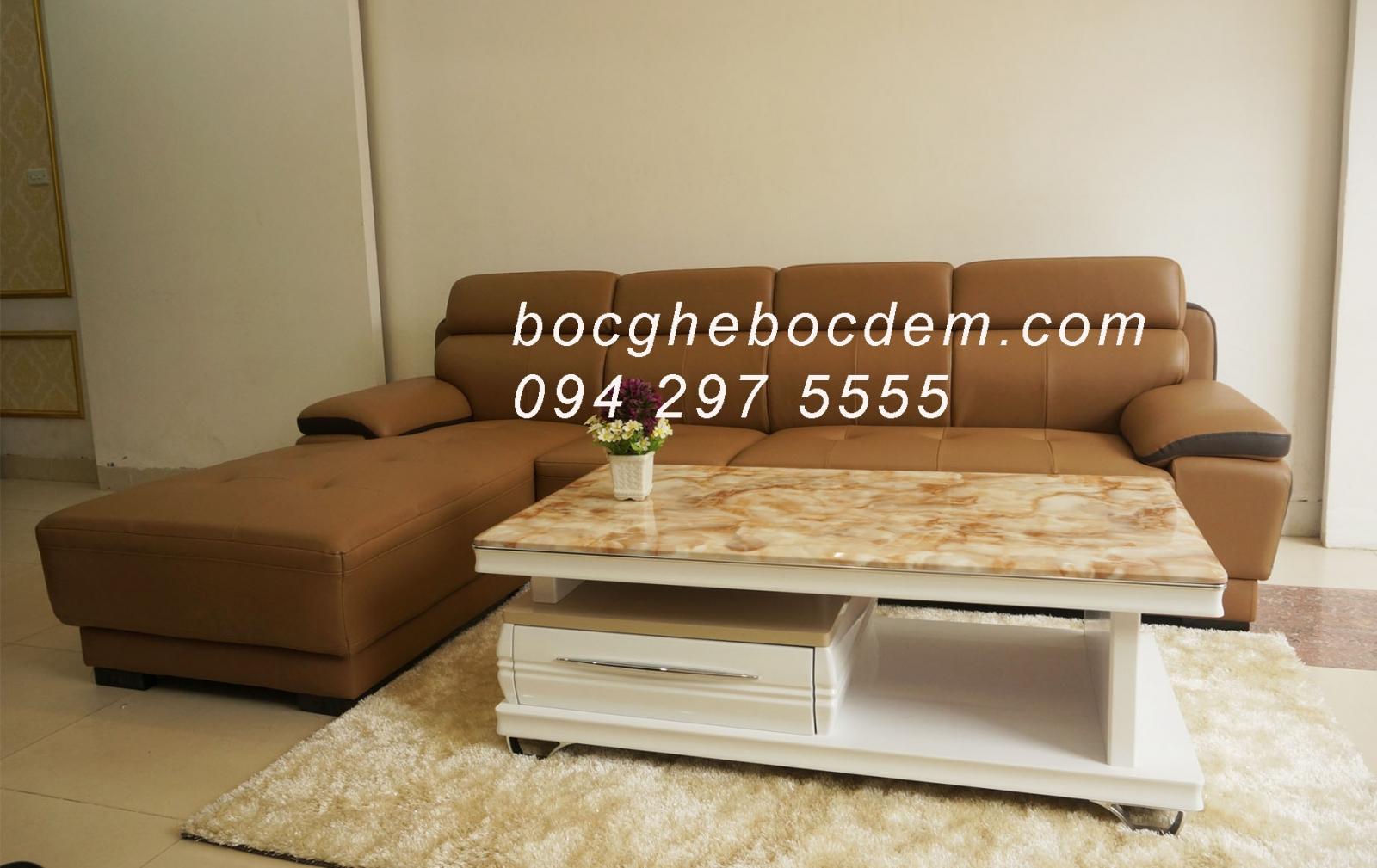 bọc ghế sofa da nhà chị hiền giáp bát