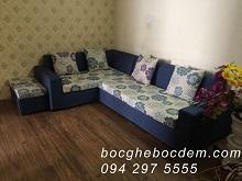 Bọc Ghế Sofa Nỉ Tại Nhà Chị Hương Ở Chung Cư Cầu Bươu, Thanh Trì, Hà Nội