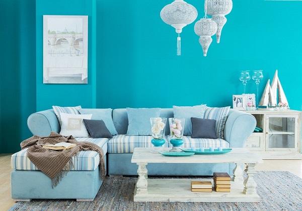 Bọc ghế sofa với gam màu sáng