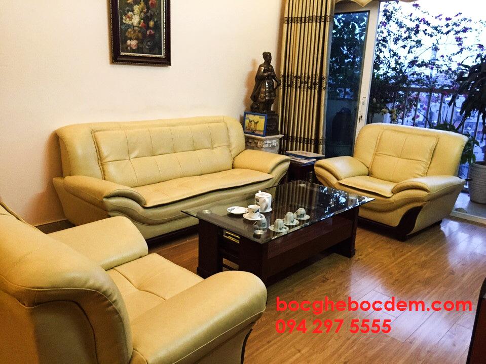 Bọc lại ghế sofa chất liệu da cao cấp