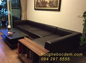 bọc sofa da nhà anh Tùng CT1A madarin Marden