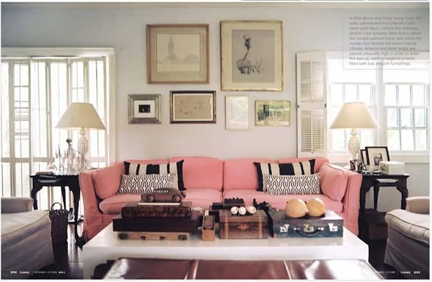 Gam màu ghế sofa cho những cô nàng nữ tính