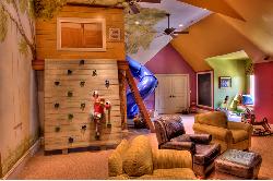 Ghế sofa đa sắc màu mang đến cho bé không gian ngủ sống động