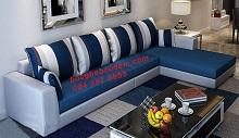 Ghế Sofa Nỉ Đẹp Dành cho Gia Đình Không Gian Phòng Khách Nhỏ N-190