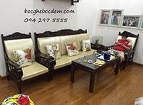 Làm đệm ghế gỗ đẹp màu kem và màu trắng