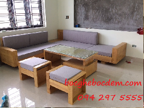 Làm đệm ghế gỗ đẹp và chất lượng nhà chị Lan quận Ba Đình