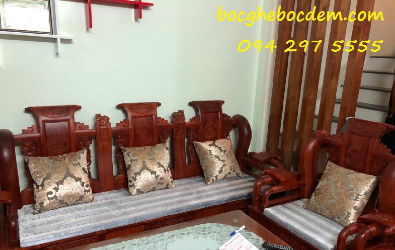 Làm đệm ghế gỗ giá rẻ tại Hà Nội