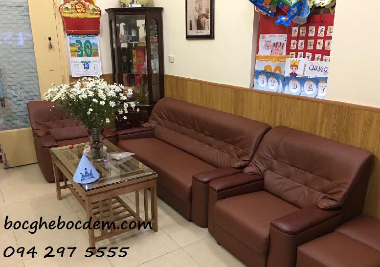 Làm đệm ghế sofa salon nhà anh Bảo quận Từ Liêm-Hà Nội