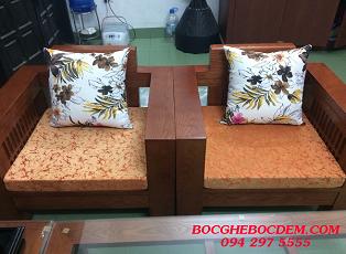 Nội thất đón xuân - Làm đệm ghế gỗ đẹp tại Long Biên, Hà Nội