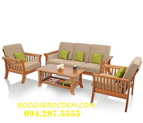 Làm đệm ghế gỗ tại gia đình anh Hùng , Cầu Giấy