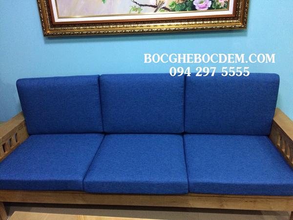 Làm đệm ghế màu xanh hiện đại tại Mỹ Đức, Hà Nội