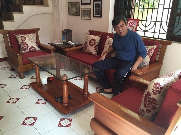 Làm đệm ghế nhà bác Quân CT5 Thịnh Liệt, Hoàng Mai