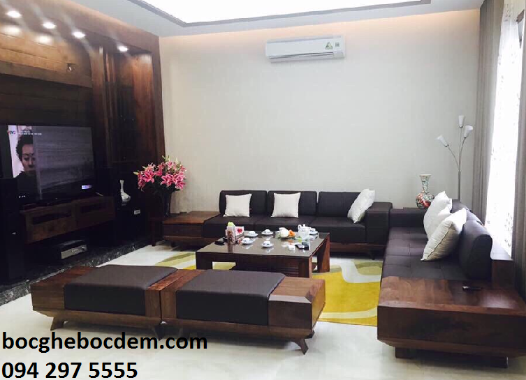 Làm đệm ghế sofa salon nhà anh Bình quận Thanh Xuân
