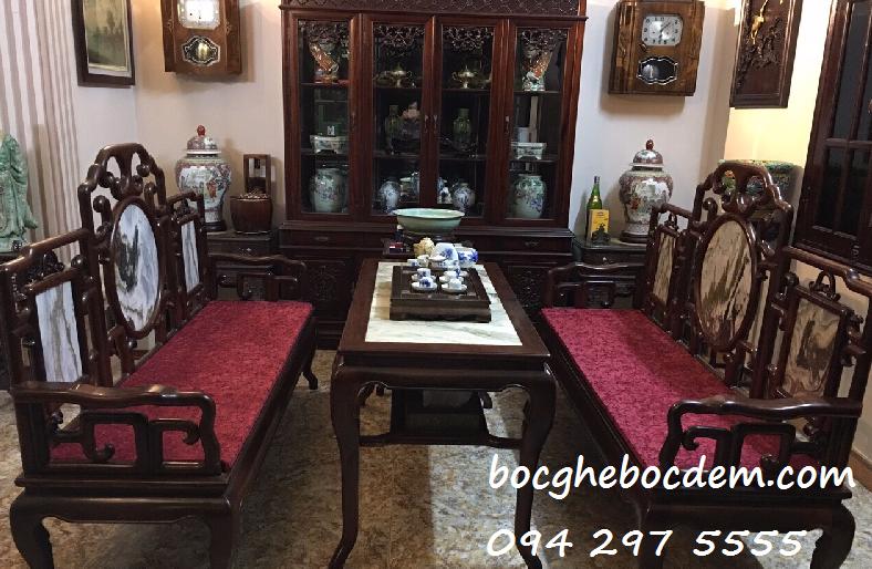 Làm mới đệm ghế gỗ tại Hà Nội giá rẻ