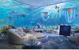 Những mẫu ghế sofa tăng sự sang trọng cho khu resort dưới đáy đại dương