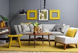 Phối màu nội thất phòng khách đẹp và sáng tạo