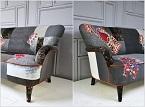Thay áo mới cho ghế sofa vừa sáng tạo vừa rẻ, đẹp