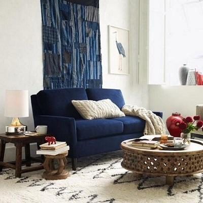Bộ sofa kết hợp cho phòng khách và phòng bếp tiện nghi phù hợp với không gian căn hộ nhỏ