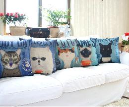 Bộ sưu tập phá cách giữa ghế sofa và những chiếc gối độc đáo