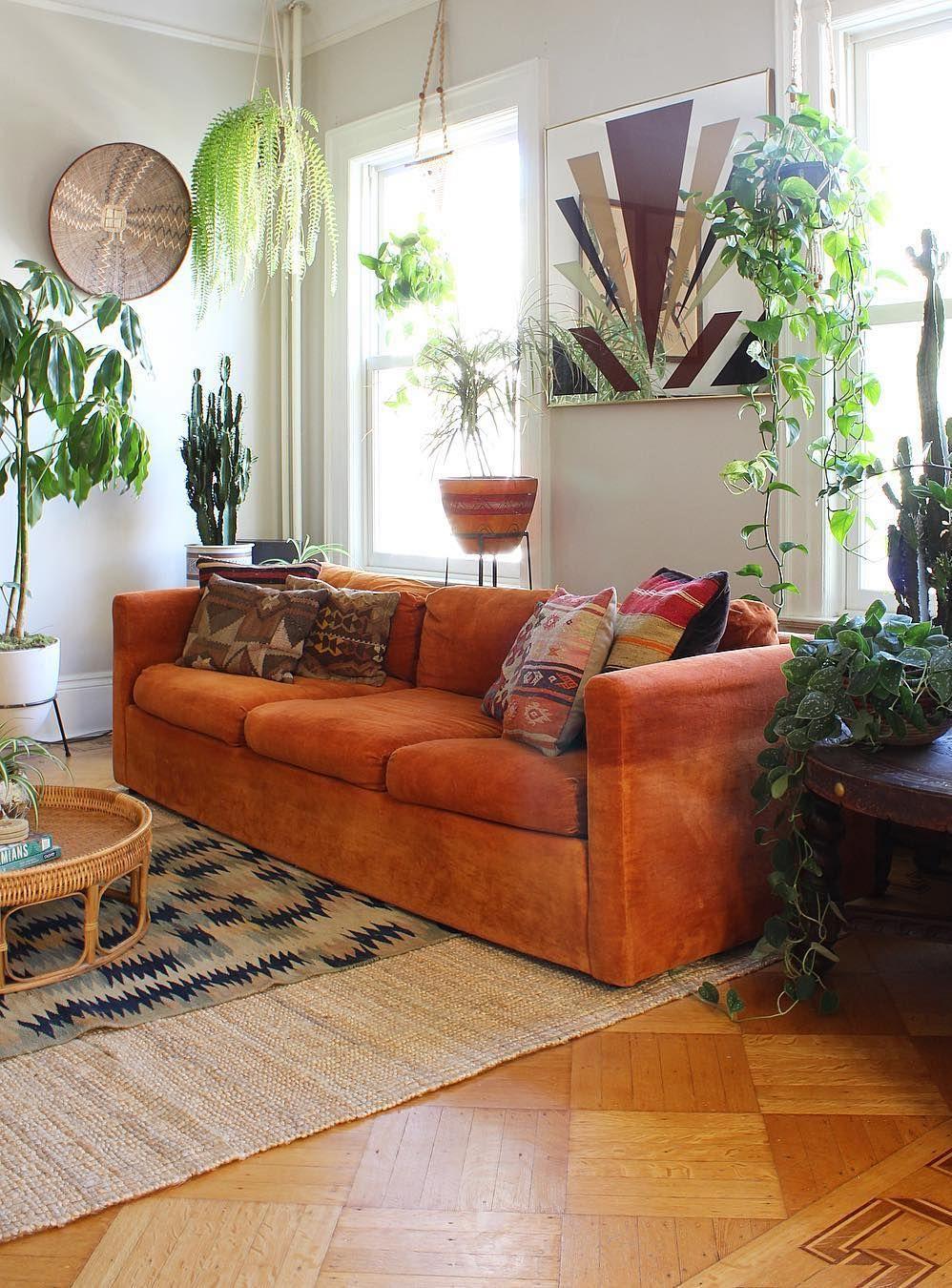 Bọc ghế sofa - Trang trí phòng khách theo phong cách Bohemian