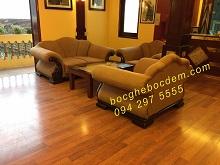 Bọc Ghế Sofa Cao Cấp Cho Khu Vực Phòng Khách Của Khách Sạn Long Châu - SaPa