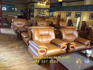 Bọc ghế sofa da- Khách san Long châu Sapa