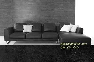 Bọc ghế sofa da tại nhà | Bọc ghế sofa nhà Chị Minh Láng Hạ