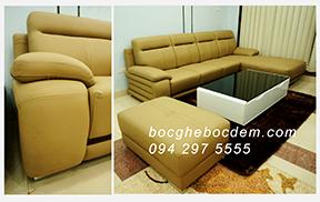bọc ghế sofa da chú hùng ở long Biên