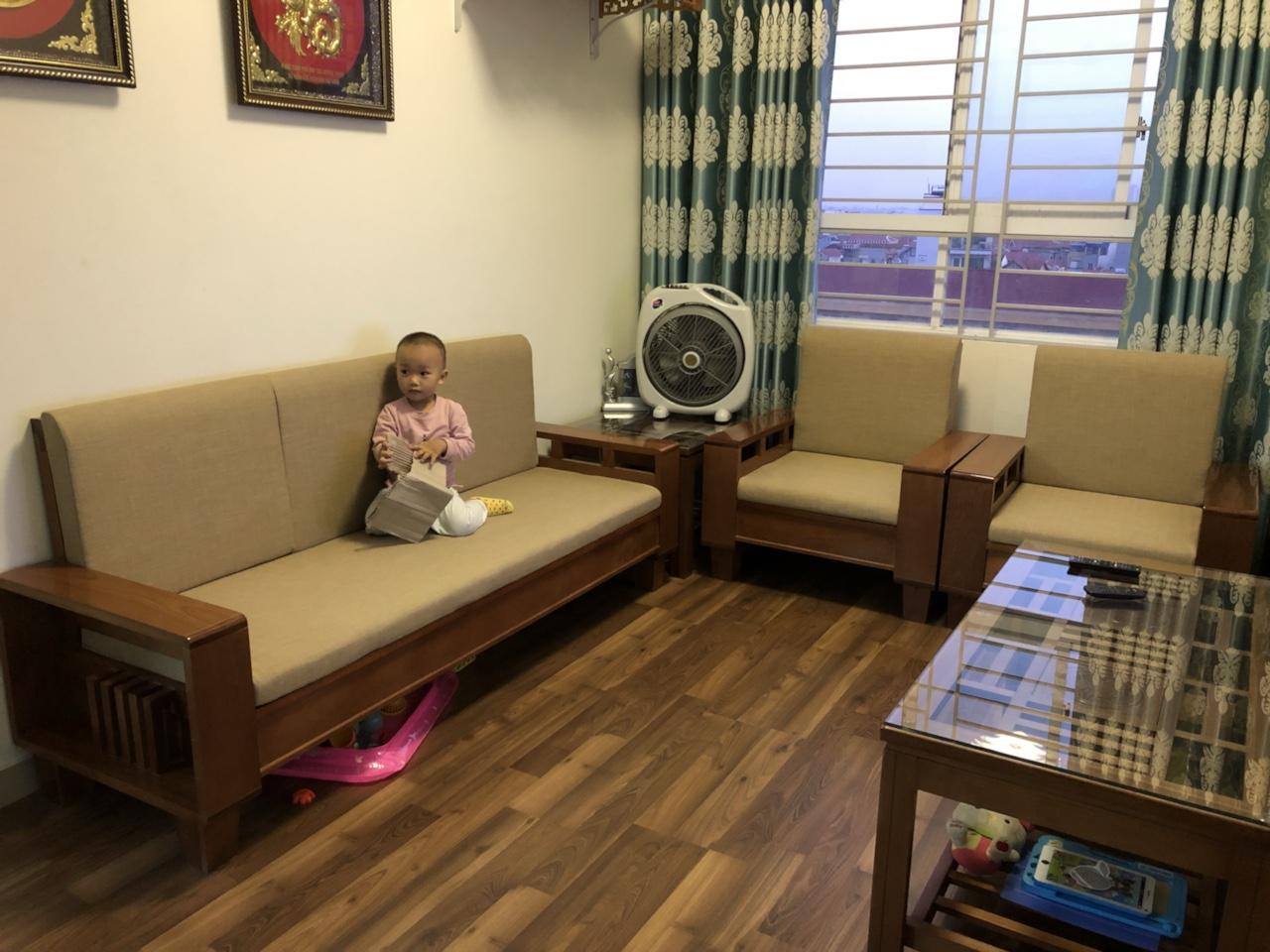 Bọc ghế sofa đẹp, chất lượng tại nhà anh Ngọc Tiến – quận Cầu Giấy