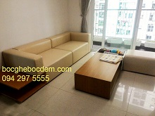 Bọc Ghế Sofa Giả Da Tại Nhà Chị Liên Ở Chung Cư Gold Palace Mễ Trì - Hà Nội