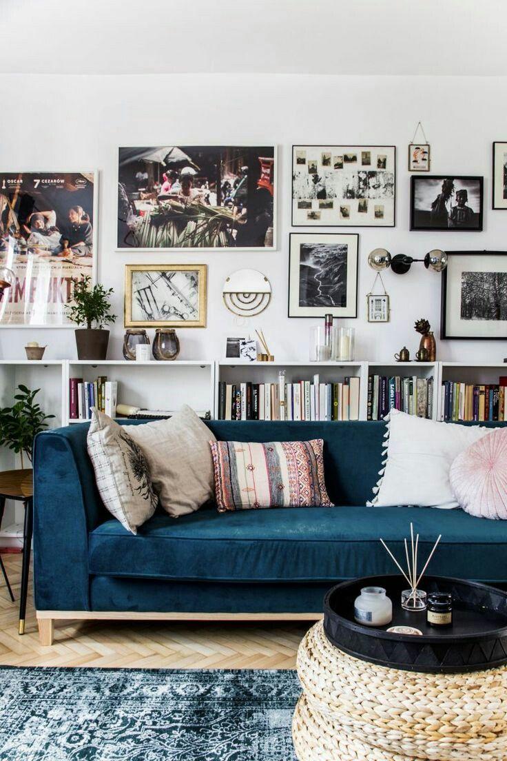 Bọc ghế sofa màu xanh dương