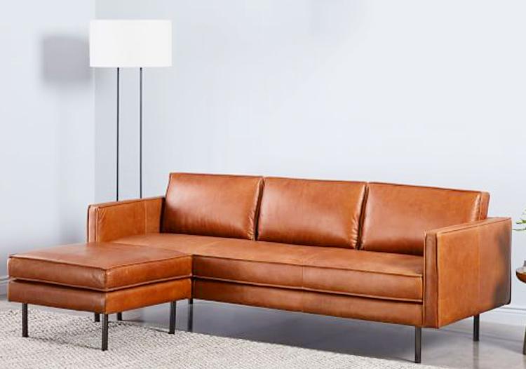 Bọc ghế sofa tông màu nâu vàng sang trọng và thanh lịch cho phòng khách