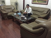 Bọc Lại Bộ Ghế Sofa Bành Bằng Da Tại Nhà Chú Giang Ngõ 192 Cầu Diễn, Hà Nội