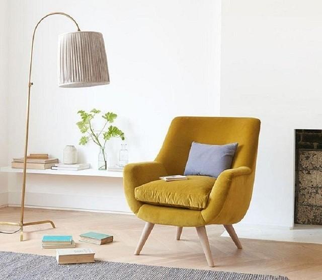 Cách bài trí ghế sofa đơn cực đơn giản