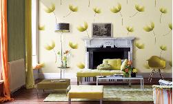 Cách ghép đôi hoàn hảo ghế sofa với giấy dán tường