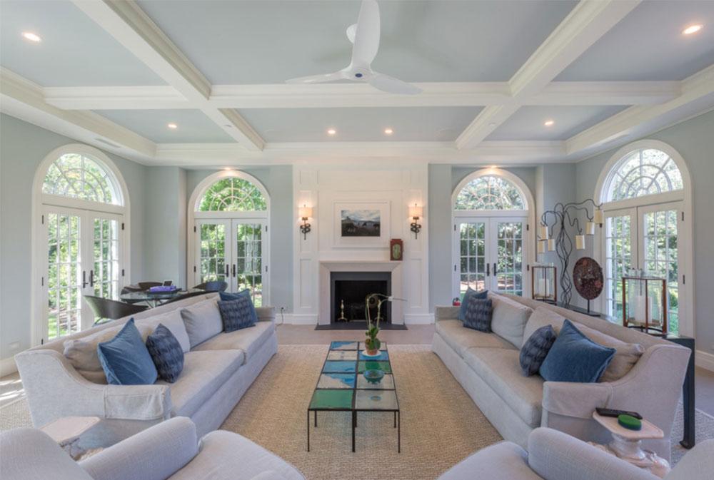 Chọn chất liệu vải bọc ghế sofa phù hợp với không gian phòng khách rộng rãi