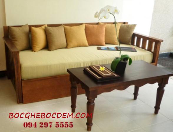 Công trình làm đệm ghế gỗ cho chung cư Trung HòaNhân Chính