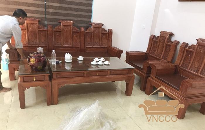 Công trình làm đệm salon gỗ tại Hà Nội của VNCCO