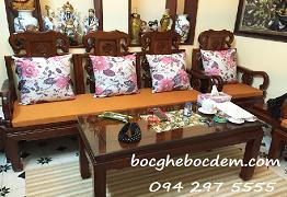 Đệm ghế gỗ - May vỏ đệm ghế gỗ đẹp và chất lượng