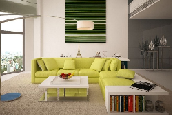 Ghế sofa kết hợp với kệ sách mang kiểu dáng siêu độc đáo cho phòng khách