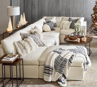 Giải pháp tiết kiệm không gian phòng khách với sofa góc