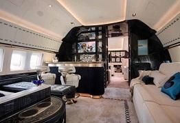 Không gian nội thất đẹp xa xỉ bên trong chiếc máy bay của hãng Winch Design