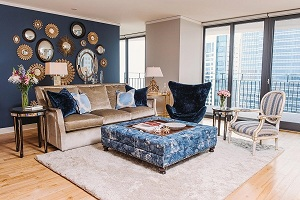 Không gian sống mới với họa tiết kế sofa độc đáo