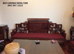 Làm đệm cho bộ ghế gỗ phong cách cổ điển tại Ba Đình, Hà Nội