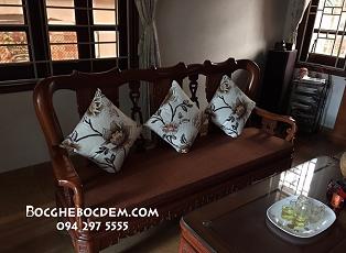 Làm đệm ghế sofa gỗ đẹp giá rẻ tại Từ Liêm, Hà Nội